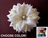 Bridal Fascinator, Wedding Headpiece, Bridal Hair Flower, Wedding Fascinator, Kanzashi Flower, Choose Color