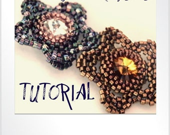 PDF Tutorial DOWNLOAD - Crystal Flower Pendant with Rivoli Crystal