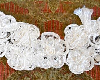 White Ribbon Appliques