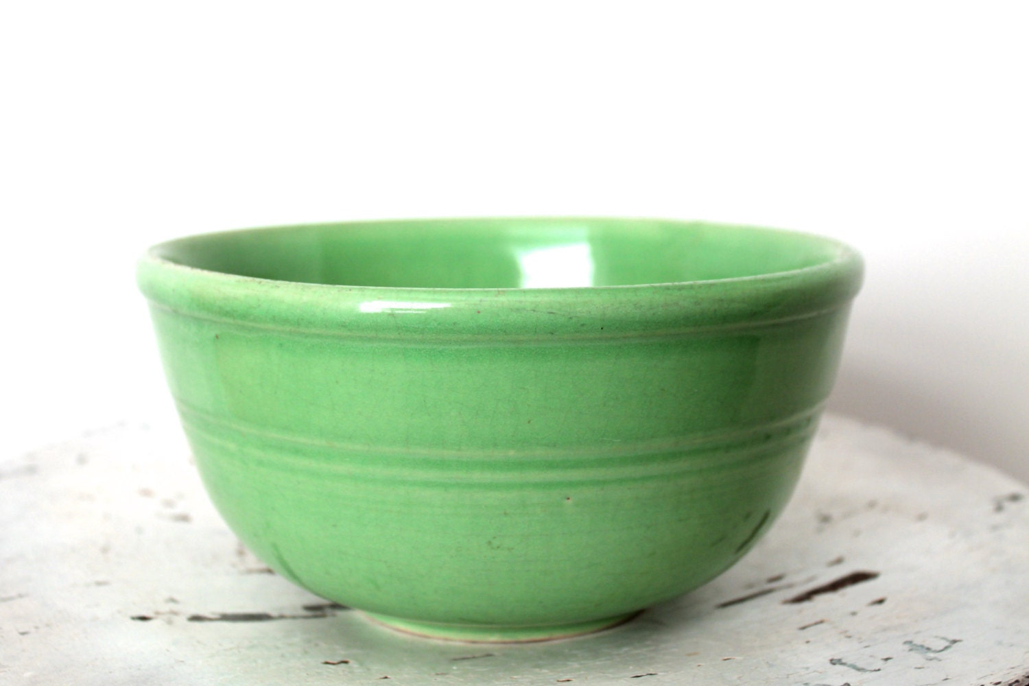 Vintage Celadon Green Mixing Bowl By Vintagearcheology On Etsy