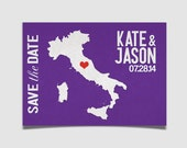 Custom Save the Date Postcards - Custom Colors and STATE or COUNTRY - 50 pack