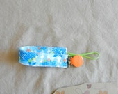 Soothie Fabric Pacifier Clip in Westminster Free Spirit Fabrics READY TO SHIP!!