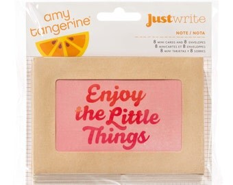 50% Off - Amy Tangerine Yes, Please Just write Note Cards & Envelopes -- MSRP 5.00
