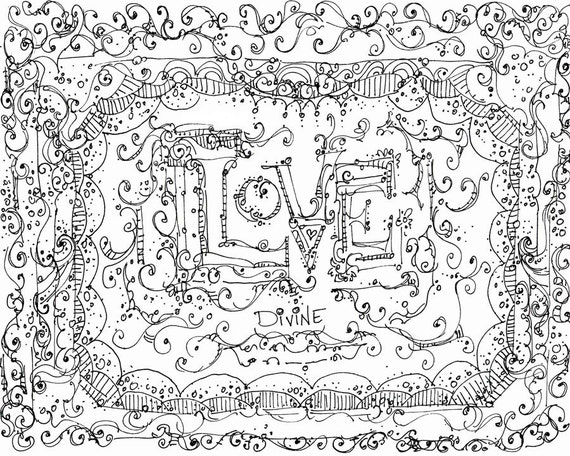 Unavailable listing on etsy for Meditation coloring pages