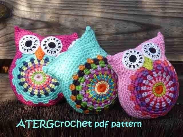 Free Owl Stuffed Cuddly Crochet Pattern : Crochet Owl Keyring Pattern Free images