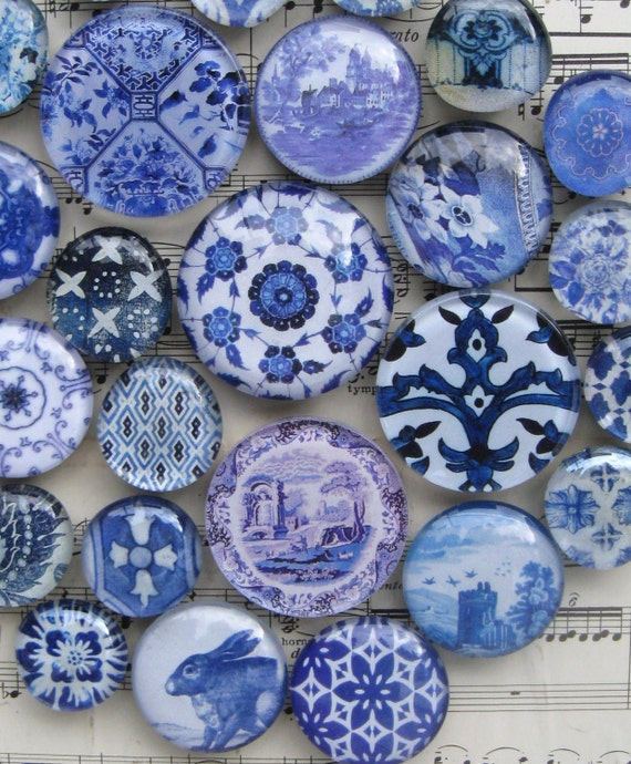 Delft blue and white china blue transferware by for Decorating with blue and white pottery