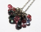"Abaco Preciosa 14KT White Gold Pink Spinel and Blue Sapphire 18"" Necklace"