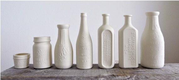 Porcelain Pharmacy Bottle Vase, Stamped Chicago