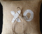XO : Ring Bearer Pillow - Personalize to accent your wedding colors