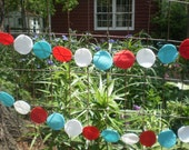 Felt Red White Blue Patriotic Circle Banner Decoration 4th of July 11 feet - RaisingGreenKids