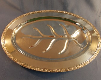Rogers Silver Company Dynasty Footed Meat Platter