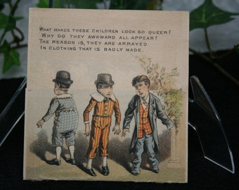 Victorian Trade Card - Fine Clothing - E.G. Burrows