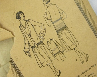 Vintage 20s Dress Sewing Pattern, Excella, 2169