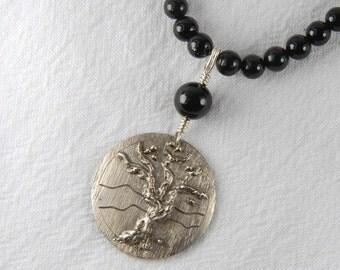 Tree of Life Pendant Silversmith Necklace Artisan Necklace Rustic Silver Necklace Silversmith Jewelry