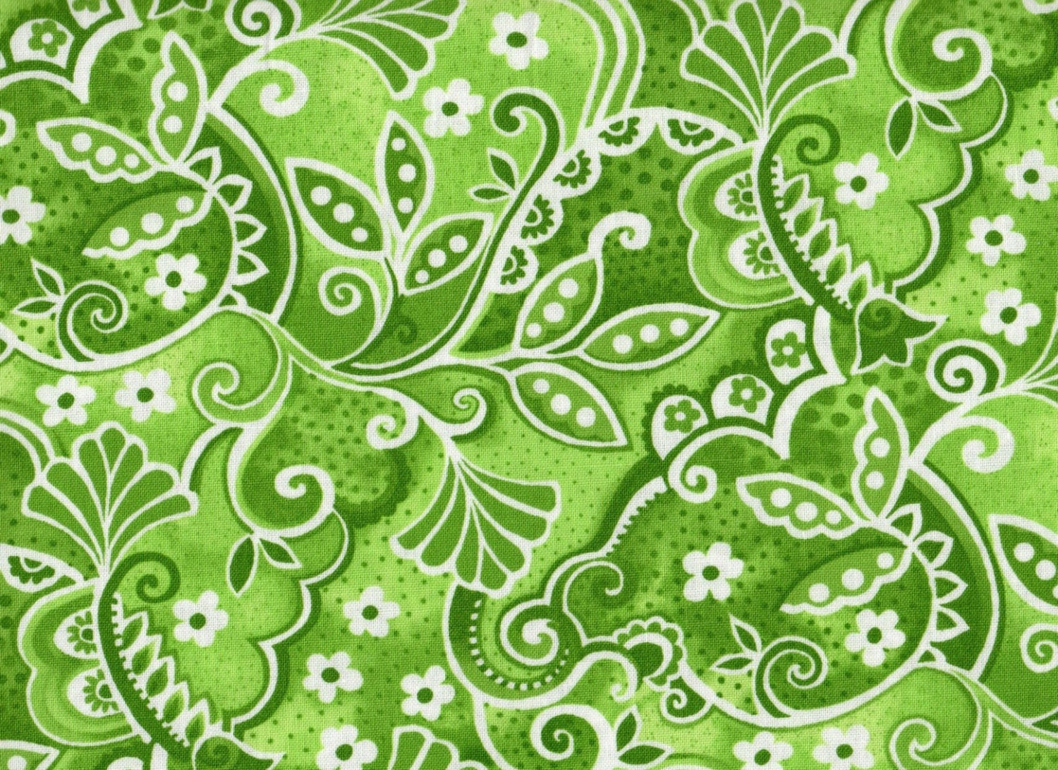 Fat quarter floral fabric madeline by blank quilting green for Green fabric