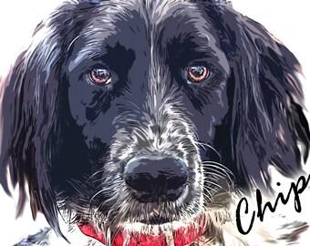 Dog Custom Portrait Style