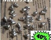 Nickel Free Ear Backs,  Earnuts,  Ear Backings, barrel earring backs silver-plated  no.13714-02784  x 100PCS