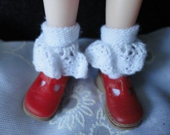 Colored 2 Style Only Heart Club Shoes For Blythe and 1/6 size Doll