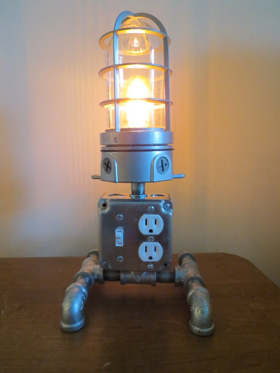 Industrial Desk Lamp Charging Station Loft Light By