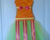 Citrus Tutu Hair Bow Holder  READY TO SHIP