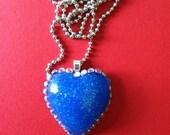 Rhinestone and Glitter Heart Necklace