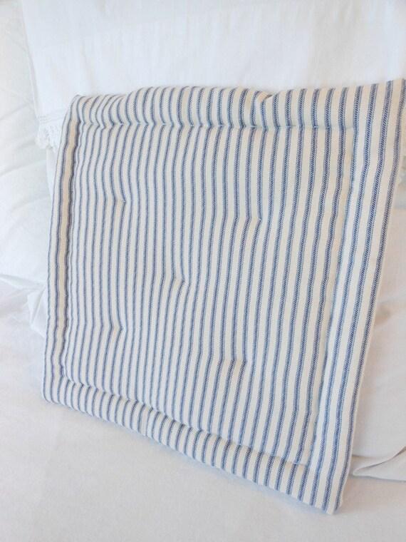 Ticking Striped Seat Cushion Tufted Seat Cushion Striped