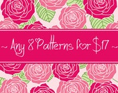 8 CROCHET PATTERNS for 17 Dollars - Savings Package