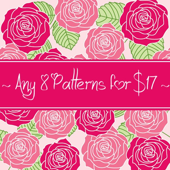 8 CROCHET PATTERNS for 17 Dollars - Savings Package