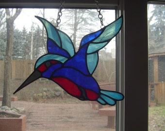 Colourful Hummingbird suncatcher