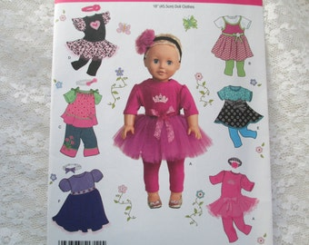 Simplicity 1711 Doll Clothes 18 Inch Pattern