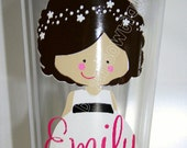 Great Gift Idea for Flower Girl. Personalized Tumbler Cup customized to look like your Flower Girl.