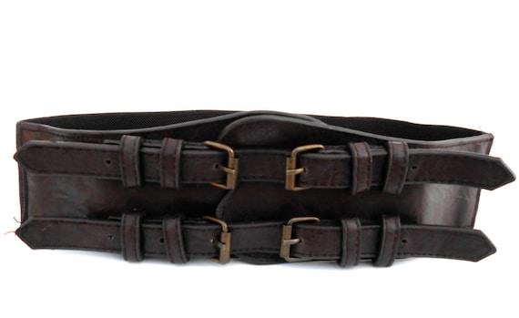 Belt Vintage Vintage Military Belt Brown