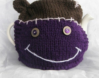 One of Victor Frankenstein's Tea Cosies - Brown and Purple
