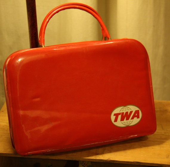 Vintage Twa Stewardess Flight Attendant Bag