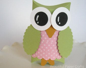 Owl Favor Boxes- Baby Shower Decorations -  Owl Birthday Party--Set of 12