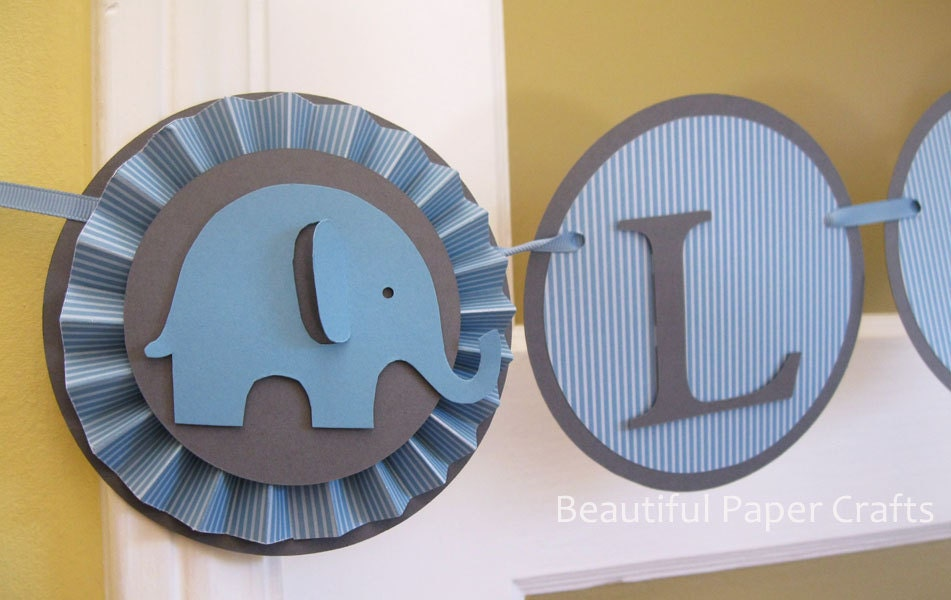 Blue And Grey Itu0027s A Boy | Baby Elephant Banner | Elephant Baby Shower  Decorations |