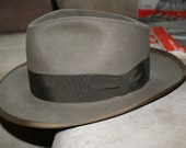 Vintage Fedora from a Very Rare Collection Lee black label 7 1/2 whippet style 1940's 1950s