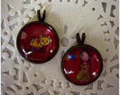 Set of Two OOAK Pullrings for Blythe Doll.