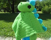 Custom Crochet Dinosaur Lovey Blanket