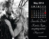 Reserved Listing for Amy - Custom Calendar Style Save The Date Magnet