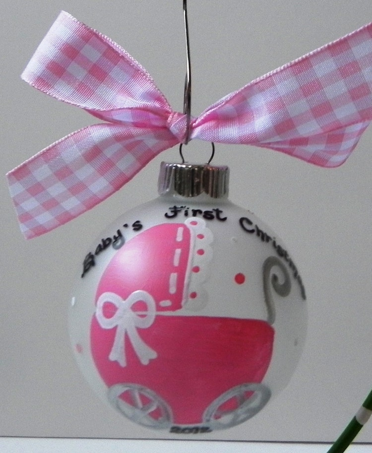 Baby S First Christmas Ornament By Sassypeasdesigns On Etsy