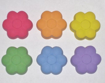Daisy Flower Shaped Sidewalk Chalk - Set Of 6 - You Choose The Colors
