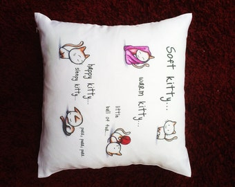 Soft Kitty Cushion Cover with Personalised Name or message