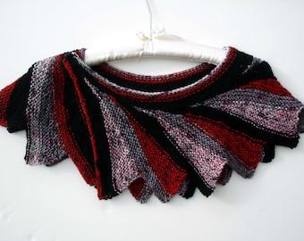 Knit shawl wrap, scarf,neckwarmer. Soft and warm.
