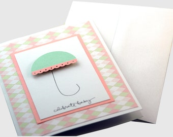 Baby Shower Card for girl, Welcome Baby Girl, Cute baby shower card, Card for Baby Shower