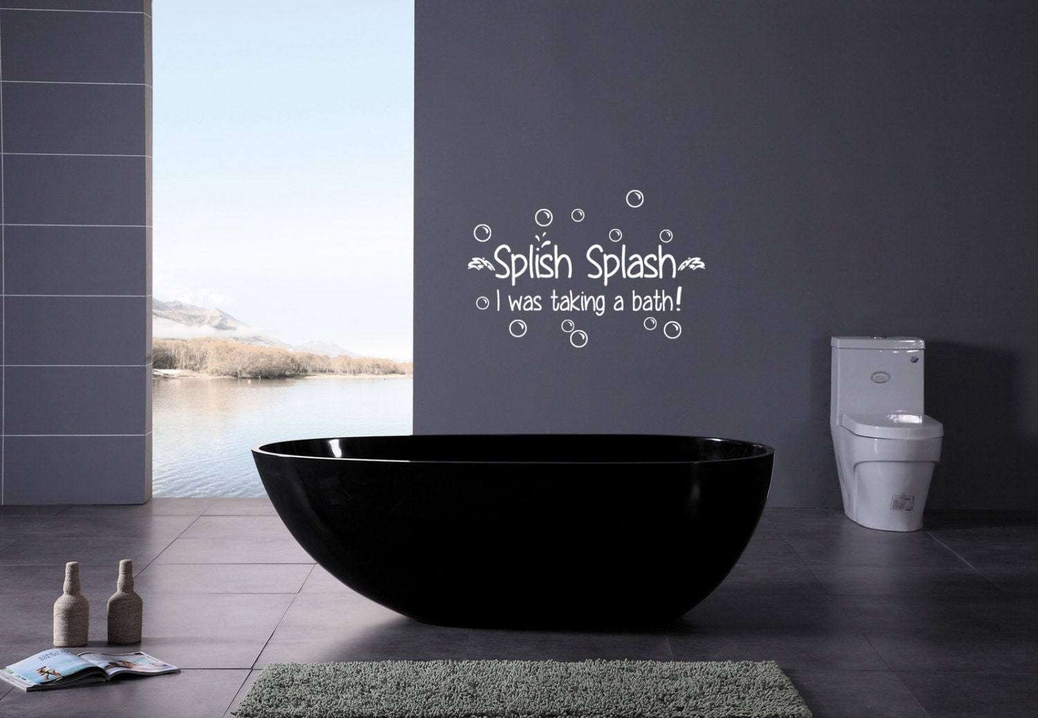 Removable wall decals for bathroom -  Zoom
