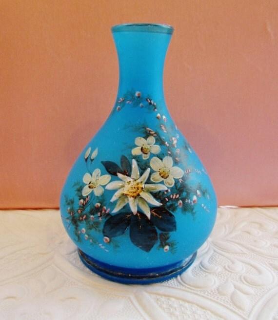 Antique Blue Glass Vases Antique Satin Glass Vase