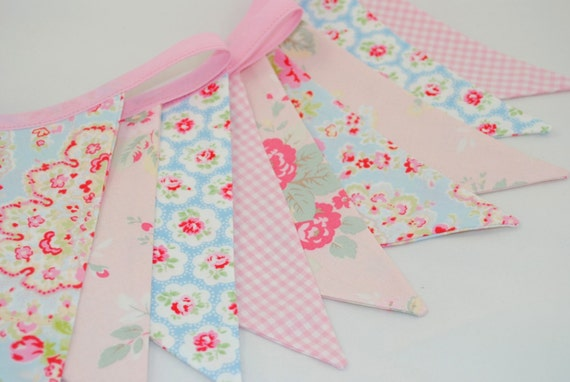 Shabby Chic Party Bunting - CATH KIDSTON FLORALS - The perfect decoration for Weddings, Parties and Baby Showers