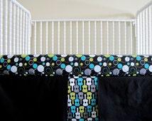 Flat Panel Crib Skirt with Box Pleats, fabrics are your choice, Lolas lovies handmade baby bedding
