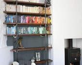 Sebastian Reclaimed Scaffolding Boards and Steel Pipe Wall Mounted and Floor Standing Urban Industrial Chic Shelving/Bookcase - Urban Design